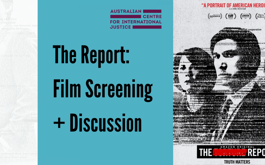 The Report: Film Screening + Discussion – 9 December 2019